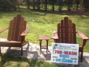 Wood furniture, pvc furniture, plastic furniture, pressure washed, pressure cleaned, algae, mold, mildew, yellow marks, black marks, algae removed, furniture restored, paint ready, patio sets, barbeque grills, outdoor kitchens, fire pits, fences, railings,Chappaqua, Scarsdale, Pound Ridge, Katonah, White Plains, Bedford, Bedford Hills, Rye, Armonk, Westchester County, Putnam County, Dutchess County- Licensed and Insured Pressure Washing and Roof Cleaning Business- Westchester Power Washing 914-490-8138 - Free Roof Cleaning and Pressure Washing Estimates