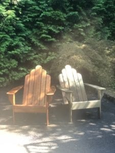Wood Furniture pressure washed, faded, dingy, dity, mold, mildew, algae and bacteria