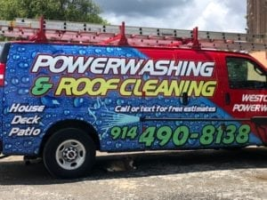 New Castle Pressure Cleaning, White Plains, Katonah Roof and house pressure washing, insured, westchester power washing